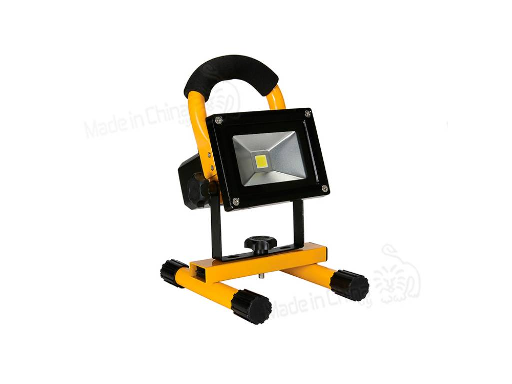 Foco LED amarillo recargable